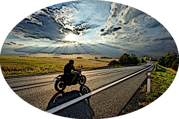 Dessin-moto-route
